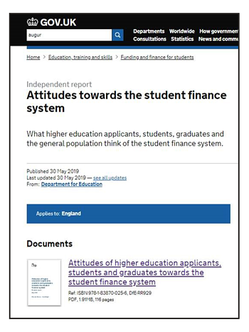 student finance article